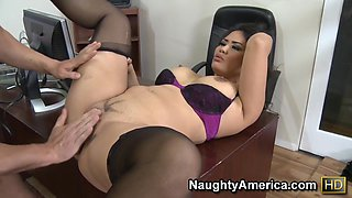 video titel: Jessica Bangkok Will Powers in Naughty Office || porn tgas: asian,big ass,big cock,big tits,upornia