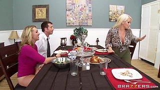 video titel: She Sucks Him Off Under The Table || porn tgas: table,flyflv