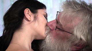 video titel: Old Young Porn Sexy Teen Fucked by old man on the couch    porn tgas: couch,fuck,old and young,old man,viptube