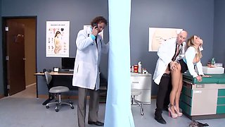 video titel: Busty doctor Alexia Vosse in heels pussyfucked by bald colleague || porn tgas: bald pussy,busty,doctor,heels,hdtube