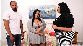 video titel: Sexy Mother and Step Daughter BBW Fuck Huge Latino Cock || porn tgas: bbw,big cock,big tits,blowjob,iceporn