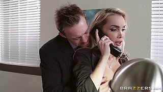 video titel: This hot blonde secretary takes care of the entire office || porn tgas: big tits,blonde,blowjob,doggy,jizzbunker