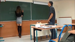 video titel: A math teacher takes pleasure with a sexy student during a private lesson || porn tgas: amateur,european,foot,french,