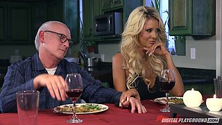 video titel: Married blonde goddess satisfied by a stud with a big dick || porn tgas: 3some,big cock,blonde,bride,bravotube