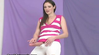video titel: Sexy teen babe in high heels showing || porn tgas: babe,brunette,hardcore,heels,nuvid