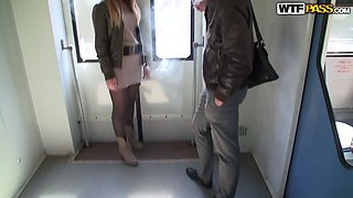video titel: Young Russian hussy gets picked up in metro || porn tgas: amateur,babe,blonde,lingerie,anysex