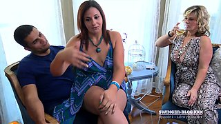 video titel: Couples swapping partners in exclusive swing video || porn tgas: blowjob,brunette,couple,group,nuvid