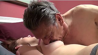 video titel: young girl time fucked on camera by old man || porn tgas: brunette,cams,doggy,fuck,xhamster